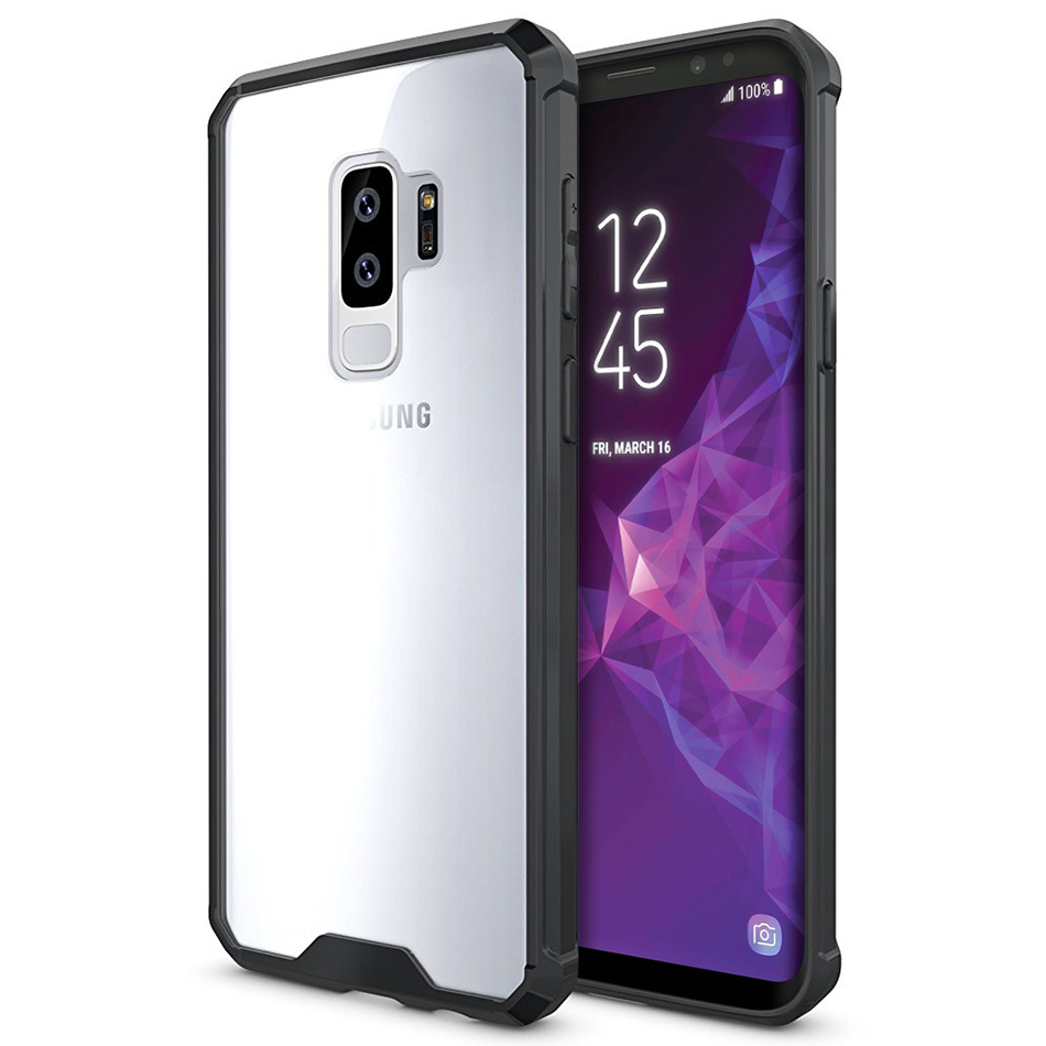 official photos e5659 7cb16 Hybrid Acrylic Hard Case for Samsung Galaxy S9+ (Black)